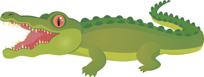 鳄鱼例证 图库摄影