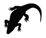鳄鱼剪影 库存例证