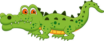 鳄鱼动画片 库存照片