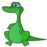 鳄鱼动画片传染媒介例证 免版税库存照片
