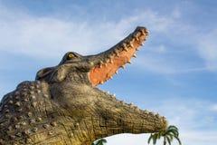 鳄鱼和天空 免版税图库摄影