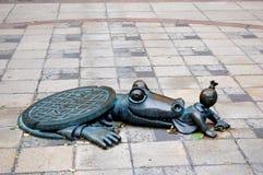 鳄鱼城市新的下水道约克 库存图片