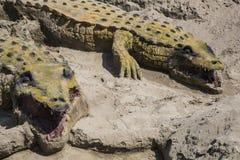 鳄鱼沙子在安大路西亚 免版税库存图片