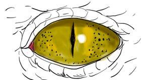鳄鱼注视眨眼睛画的第2动画 皇族释放例证
