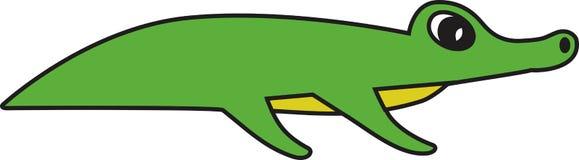 鳄鱼的传染媒介例证 库存图片