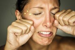 鳄鱼的眼泪 免版税库存图片