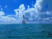鳄鱼礁石灯塔 库存照片