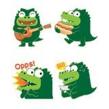鳄鱼行动的01 库存照片