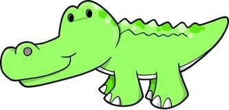 鳄鱼逗人喜爱的例证向量