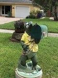 鳄鱼邮箱 图库摄影