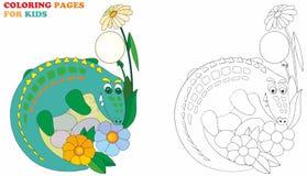 鳄鱼,孩子的上色页 传染媒介例证容易编辑可能书设计的 向量例证