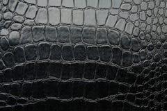 鳄鱼黑光滑的人造革 图库摄影