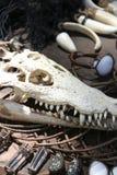 鳄鱼jewelery当地菲律宾头骨 库存照片