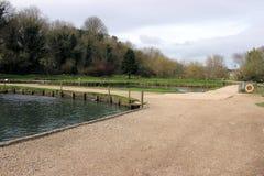 鳟鱼农场, cotswolds英国 图库摄影
