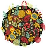 鸟、花和其他自然。 免版税图库摄影