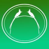 鸟亚洲天堂捕蝇器图象背景商标横幅 皇族释放例证