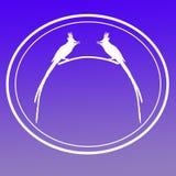 鸟亚洲天堂捕蝇器图象背景商标横幅 向量例证