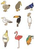鸟动画片图标 库存图片