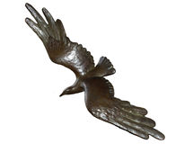鸟古铜 库存图片