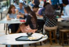 鸟吃都市食物生活 免版税库存图片