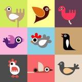 鸟向量墙纸 免版税库存图片