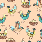 鸟和小鸡 免版税库存照片