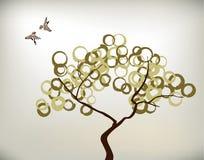 鸟和结构树 免版税库存照片