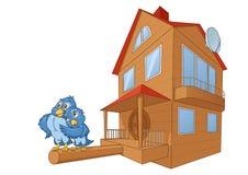 鸟和鸟房子豪华2 免版税库存图片