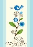 鸟唱歌的一点 免版税库存图片