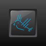 鸟图标 库存图片