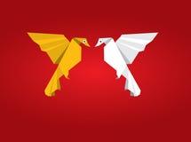 鸟夫妇origami 免版税库存图片