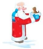 鸟小圣诞老人 免版税库存图片
