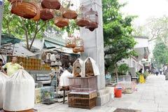 鸟庭院香港po街道yuen 免版税图库摄影