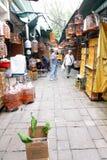 鸟庭院香港po街道yuen 免版税库存照片