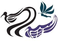 鸟形状 免版税库存照片