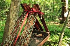 鸟房子和森林 免版税图库摄影