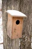 鸟房子在冬天 免版税库存照片