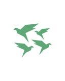 鸟抽象业务保险摘要 免版税库存图片