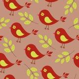 鸟无缝的墙纸 免版税库存照片