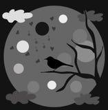 鸟月亮 免版税图库摄影