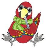 鸟病残和坐 免版税库存照片