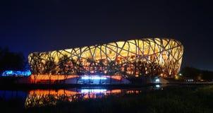 鸟的巢/奥林匹克体育场 免版税图库摄影