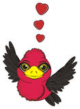鸟看板卡爱婚姻向量 免版税图库摄影