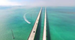鸟瞰图七英里桥梁 佛罗里达关键字 股票视频