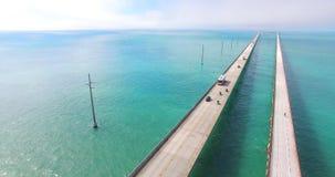 鸟瞰图七英里桥梁 佛罗里达关键字 影视素材