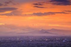 鸟瞰图万隆市 免版税图库摄影