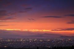 鸟瞰图万隆市 免版税库存照片