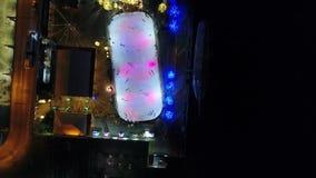 鸟瞰图中心城市费城&周边地区在晚上 影视素材