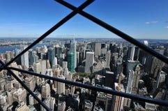 鸟瞰图中间地区曼哈顿 免版税库存图片