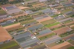 鸟瞰图农业地区在德国,欧洲 免版税库存照片
